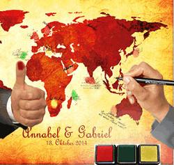 Spiel mit Weltkarte